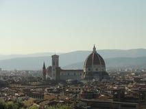 O domo em Florença - opinião completa da cidade Imagem de Stock Royalty Free