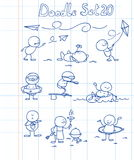 O Doodle ajustou 20 Foto de Stock Royalty Free