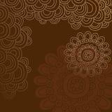 O Doodle Groovy do Henna circunda o vetor da beira Foto de Stock Royalty Free