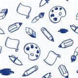 O Doodle utiliza ferramentas o teste padrão sem emenda Imagens de Stock