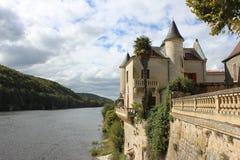 O Dordogne em Lalonde, Bergerac Foto de Stock