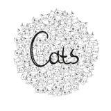 O ` dos gatos do ` da palavra no tamanco Fotos de Stock