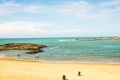 O dos Namorados do Praia, amantes encalha, Guarapari, estado de EspÃrito Santo, Brasil Fotografia de Stock Royalty Free