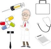 O doutor e as ferramentas médicas Imagens de Stock Royalty Free
