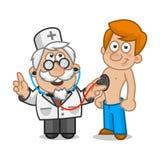 O doutor escuta o paciente Fotografia de Stock Royalty Free