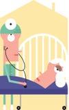 O doutor examina a mulher idosa Imagem de Stock