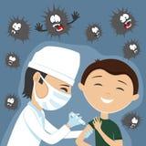 O doutor faz a vacinação ilustração do vetor