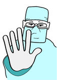 O doutor para o gesto Imagens de Stock Royalty Free