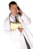 O doutor responde a suas perguntas Fotos de Stock Royalty Free