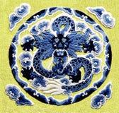 O dragão do bordado Imagem de Stock Royalty Free