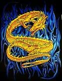 O dragão dourado Fotografia de Stock