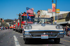 115o Dragon Parade de oro anual Fotografía de archivo libre de regalías