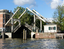O drawbridge no amstel Foto de Stock Royalty Free
