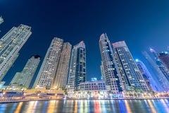 O Dubai - 10 de janeiro de 2015: distrito do porto sobre Fotografia de Stock Royalty Free