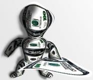 O duende dá dólares Imagens de Stock