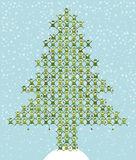 O duende de Santa que faz a árvore de Natal Foto de Stock