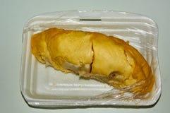 O durian que foi comprado no mercado local Foto de Stock
