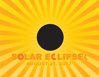 2017 o eclipse solar total Sun irradia a ilustração do vetor do fundo ilustração do vetor