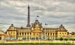 O Ecole Militaire (escola militar) em Paris Imagens de Stock