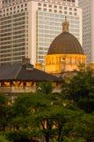 O edifício da legislatura de Hong Kong imagens de stock royalty free