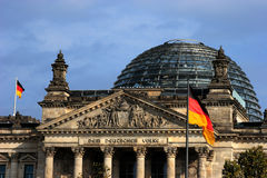O edifício de Reichstag Imagem de Stock
