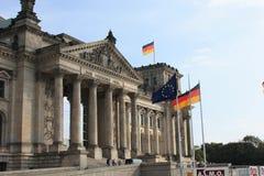 O edifício de Reichstag Fotografia de Stock Royalty Free