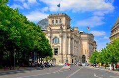O edifício de Reichstag em Berlim Imagem de Stock