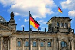 O edifício de Reichstag em Berlim Imagem de Stock Royalty Free