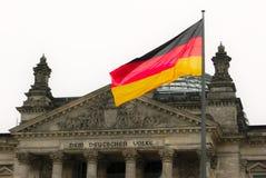 O edifício de Reichstag em Berlim, Alemanha Imagens de Stock Royalty Free