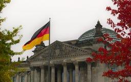 O edifício de Reichstag em Berlim, Alemanha Fotografia de Stock Royalty Free