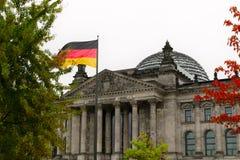 O edifício de Reichstag em Berlim, Alemanha Fotos de Stock Royalty Free