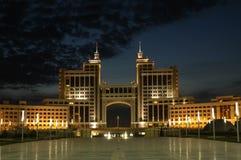 O edifício do ministério do petróleo e do gás está em Astana imagens de stock