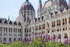 O edifício do parlamento em Budapest, Hungria Detalhes arquitectónicos Fotos de Stock