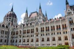O edifício do parlamento em Budapest, Hungria Detalhes arquitectónicos Foto de Stock Royalty Free