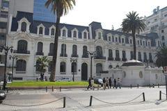 O edifício europeu Santiago do estilo faz o Chile Fotos de Stock Royalty Free
