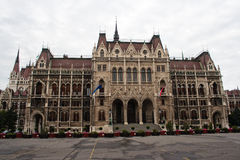 O edifício húngaro do parlamento. Imagens de Stock