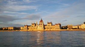 O edifício húngaro do parlamento foto de stock royalty free