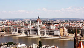 O edifício húngaro do parlamento Foto de Stock