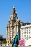 O edifício real do fígado, Liverpool Fotos de Stock