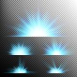 O efeito da luz stars explosões Eps 10 Foto de Stock