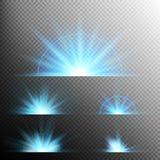 O efeito da luz stars explosões Eps 10 Fotos de Stock