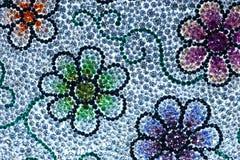 O efeito de cristal da arte do casamento da borda da gema azul de cristal bonita colorido do projeto da reflexão da textura da te Fotografia de Stock