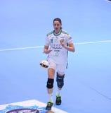 O EHF das mulheres patrocina a liga - CSM BUCARESTE contra GYORI AUDI ETO KC Fotos de Stock