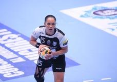 O EHF das mulheres patrocina a liga - CSM BUCARESTE contra GYORI AUDI ETO KC Fotos de Stock Royalty Free
