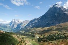 O Eiger nos alpes suíços Imagens de Stock Royalty Free
