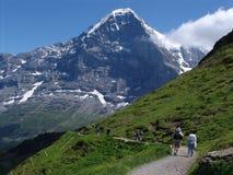 O Eiger poderoso fotografia de stock