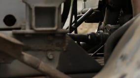 O eixo da movimentação do carro vídeos de arquivo
