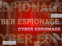 2.o ejemplo del ataque cibernético criminal cibernético del espionaje stock de ilustración