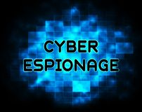 2.o ejemplo del ataque cibernético criminal cibernético del espionaje libre illustration