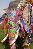 O elefante decorado. imagens de stock royalty free